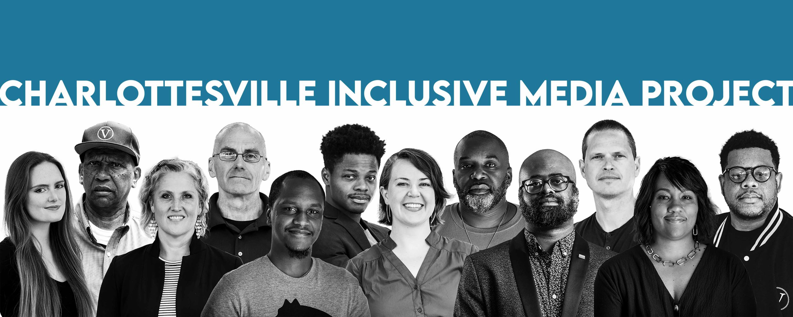 Charlottesville Inclusive Media project logo with a racially diverse group of people